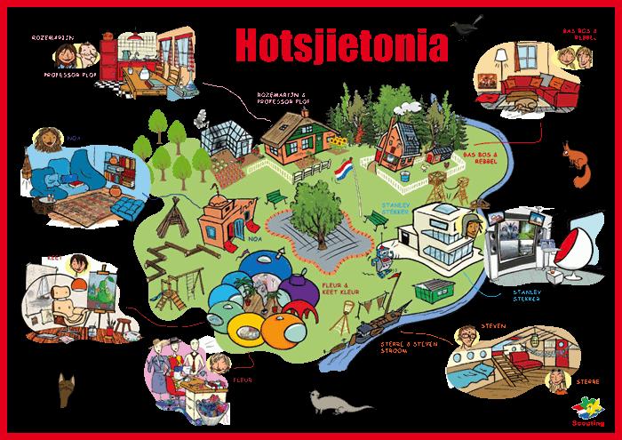 Hotsjietonia kaart