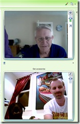 Messenger video chat with dad