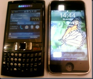 Samsung i780 vs iPhone