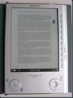 Sony PRS-505 - PDF min zoom