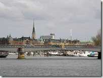 One of the many bridges in Stockholm