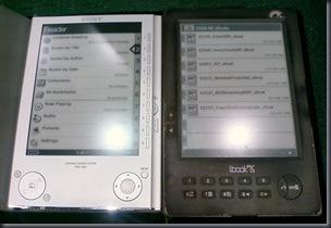 Sony PRS-505 vs lBook Reader v3