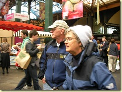 Mom and Dad in a daze at Borough Market