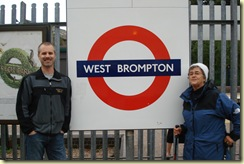 Brian and Mom at West Brompton